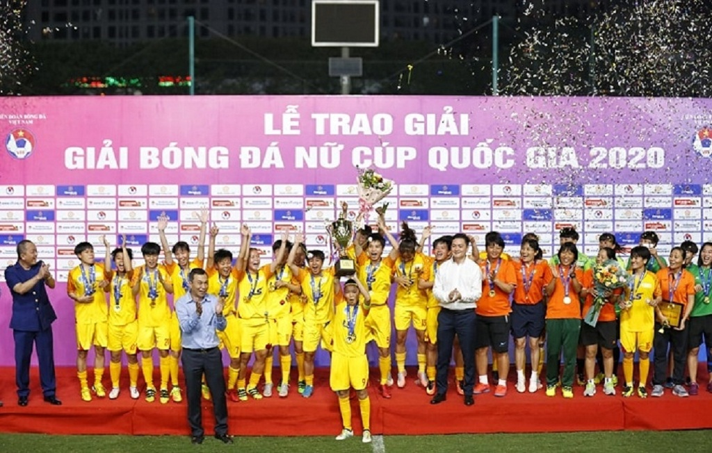 HCM City beat Vinacomin to win Women's National Football Cup