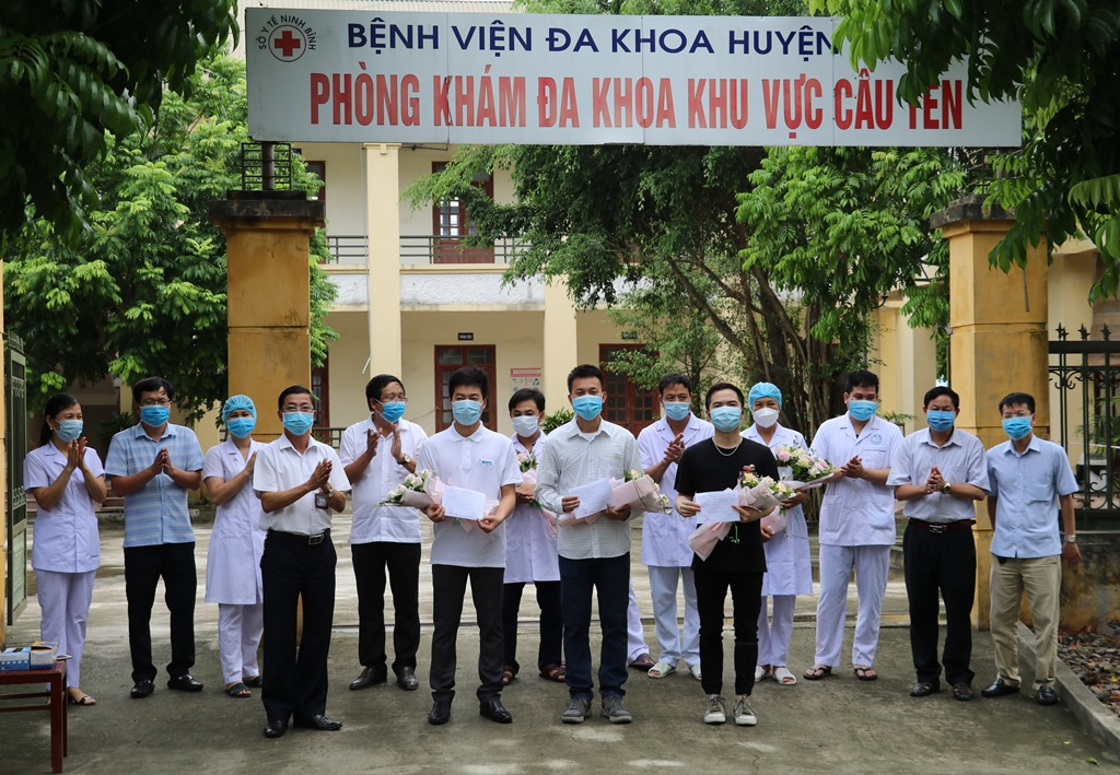Ninh Binh: Three more COVID-19 patients recover