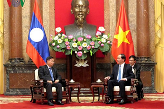 President Tran Dai Quang receives Laos NA Vice Chair