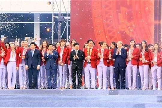 ASIAD 2018 Vietnamese sporting delegation honoured