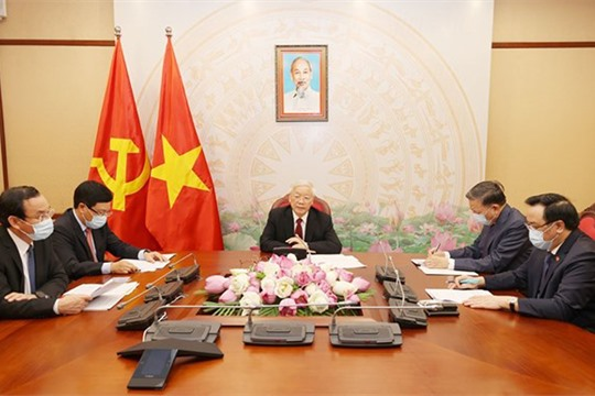 Top leaders of Vietnam Laos hold phone talks