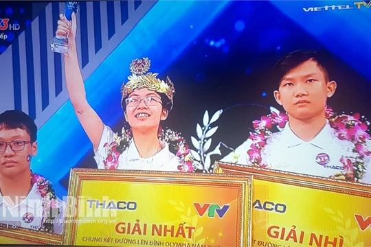 Ninh Binh student becomes winner of Olympia Competition 2020
