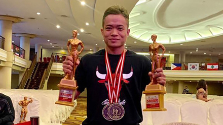 Vietnam wins nine golds at Asian bodybuilding championship