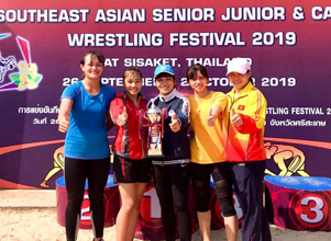 Ninh Binh athletes win medals from Southeast Asian wresting festival 2019