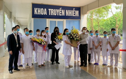 One more COVID-19 patient discharged from Ninh Binh General Hospital